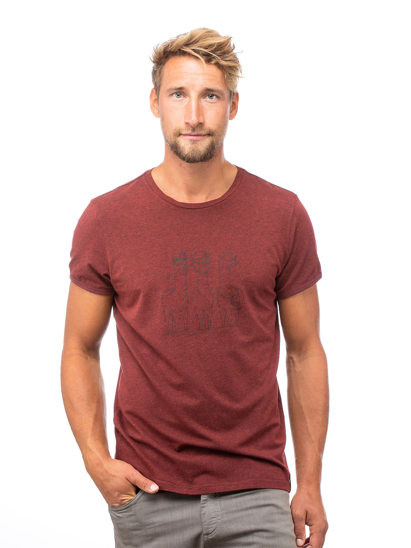 Chillaz Mens Alpaca Gang T-Shirt Casual T-Shirts